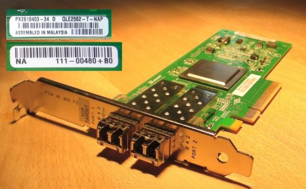 NetApp X1131A / Qlogic QLE2562 Dual Port PCIe 8Gb FC Target HBA