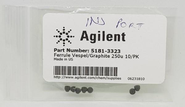 5181-3323 Ferrule, kurz, 0.4mm 15%/85% Graphit/Vespel 10/PK