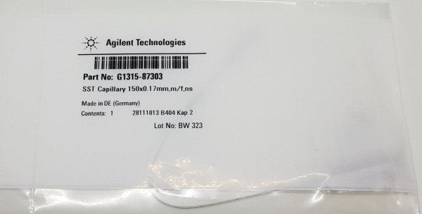 G1315-87303 Kapillare 150 x 0.17 mm, m/f, ns