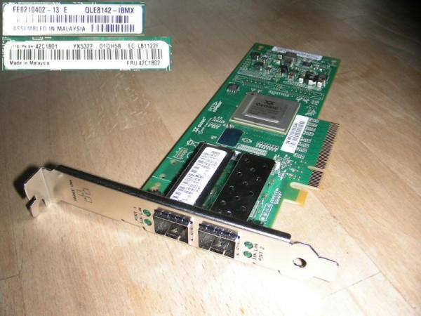 QLogic QLE8142 PCI-Express 10GBit CNA - IBM 42C1801 / 42C1802