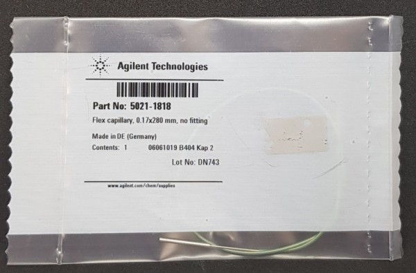 5021-1818 Flexible LC Kapillare 280 x 0.17 mm ohne Fittings