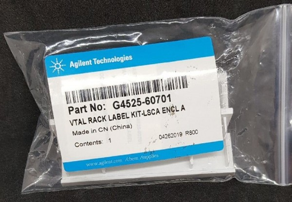 G4525-60701 Vial Rack Label Kit f. G4514A, G8130A Autosampler Trays