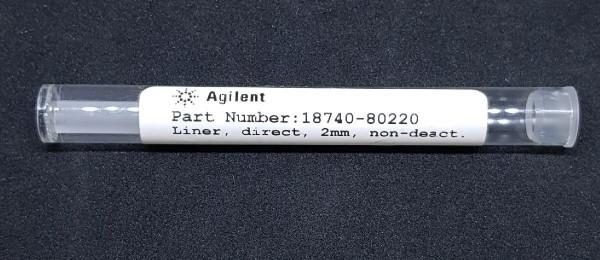 18740-80220 Quarzglas Liner, splitless, gerade