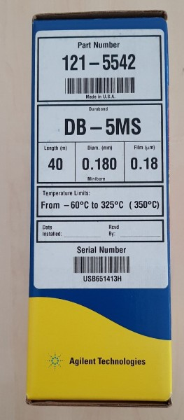 121-5542 DB-5MS 40m, 0.18mm, 0.18µm