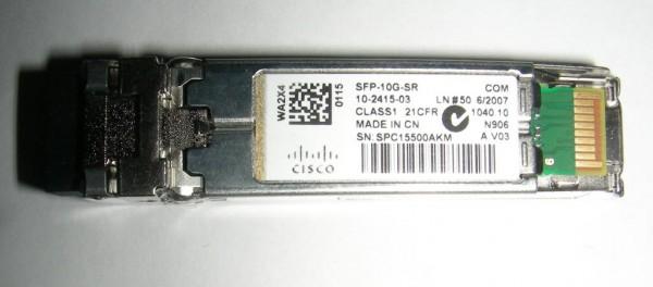 Cisco SFP-10G-SR 10-2415-03 10 GBASE SFP+ Transceiver