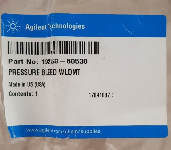 19258-60530 Headspace gas bleed pressure weldment assembly