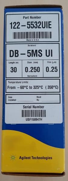 122-5532UIE J&W DB-5MS UIE, 30m, 0.25mm, 0.25µm f. 6850 GC