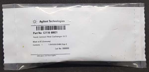 G7116-60021 QC ULD Heat Exchanger, 1.0µL f. G7116A/B Thermostat
