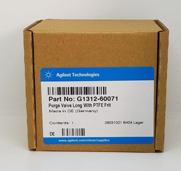 G1312-60071 Purge Ventil, lang f. G1310, G1311, G1312, G1376, G2226