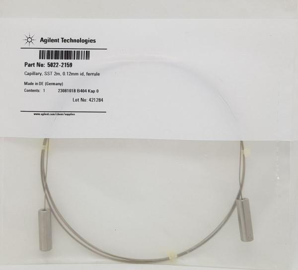 5022-2159 Restriktionskapillare 2.000mm, 0.12mm ID, OQ/PV