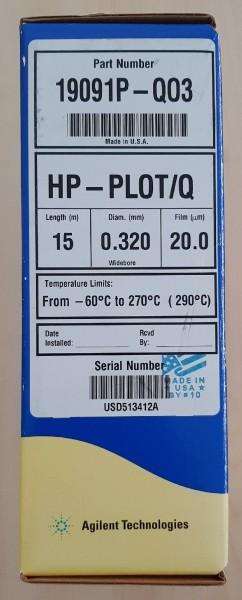 19091P-QO3 J&W HP-PLOT/Q, 15m, 0.32mm, 20µm